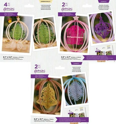 Gemini - 3D Christmas Ornaments Collection by Crafters Companion